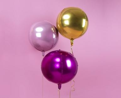 Ballon aluminium rond doré métallisé 40 cm-3