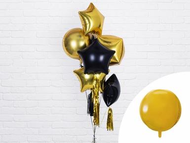 Ballon aluminium rond doré métallisé 40 cm-2