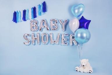 Ballon aluminium rond bleu ciel métallisé 40 cm-2