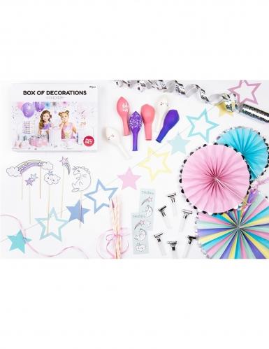 Kit décoration anniversaire licorne 35 pièces