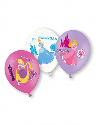 6 Ballons en latex Disney Princesses™ 28 cm