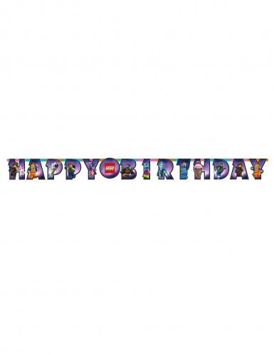 Guirlande en carton Happy Birthday La Grande Aventure Lego 2™ 163 x 13 cm-1