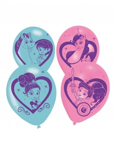 6 Ballons en latex Nella Princesse Chevalier™ 28 cm