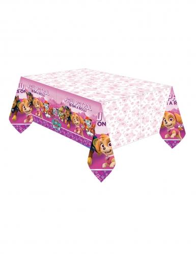 Nappe en plastique rose Pat'Patrouille™ 137 x 274 cm
