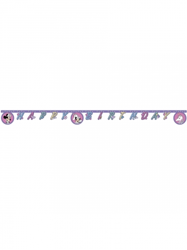 Guirlande Happy Birthday Minnie et la licorne™ 2 m-1
