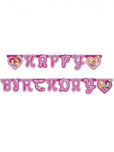 Guirlande Happy Birthday Princesses Disney™ cœurs