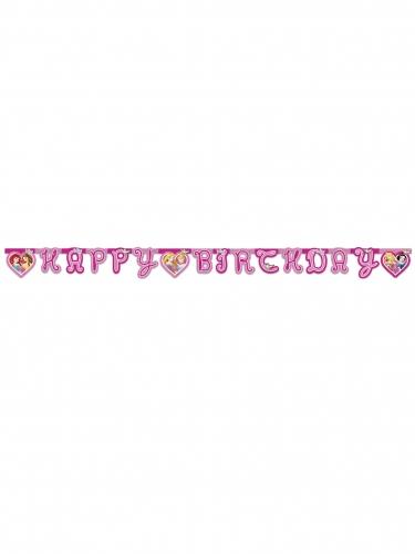 Guirlande Happy Birthday Princesses Disney™ cœurs-1