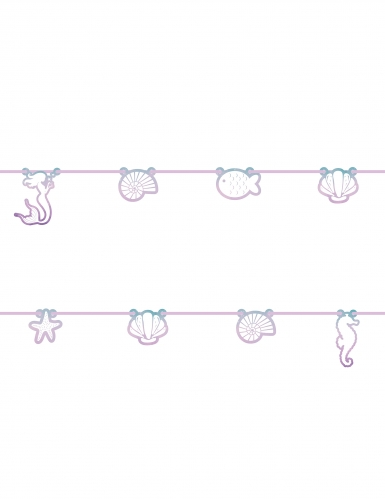 Guirlande en carton sirène élégante 2 m