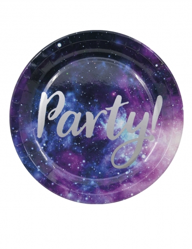 8 Assiettes en carton galaxy party 23 cm
