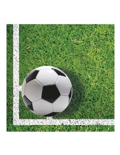 20 Serviettes en papier football party 33 x 33 cm