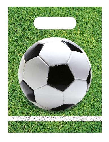 6 Sacs de fête en plastique football party