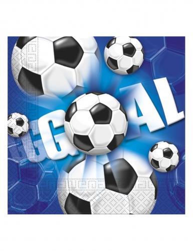 20 Serviettes en papier football goal 33 x 33 cm