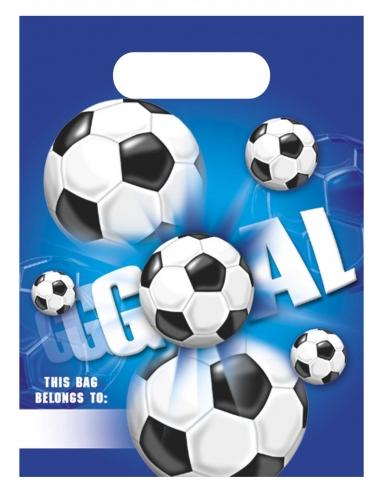 6 Sacs de fête en plastique football goal