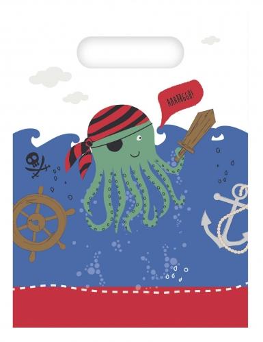 6 Sacs de fête pirates dans la mer