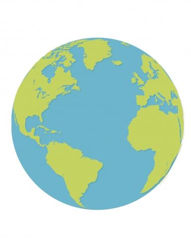 16 Serviettes En Papier Planète Terre 33 X 33 Cm