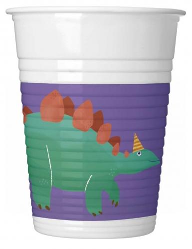 8 Gobelets en plastique dinosaure party 200 ml