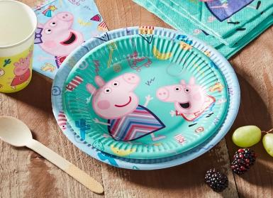 8 Petites assiettes en carton Peppa Pig™ 20 cm-1