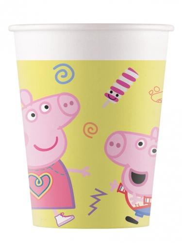 8 Gobelets en carton Peppa Pig™ 200 ml