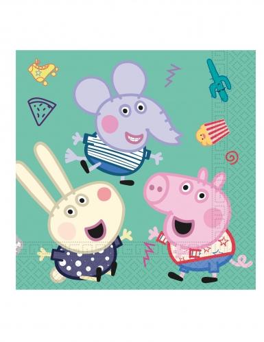 20 Serviettes en papier Peppa Pig™ 33 x 33cm-1