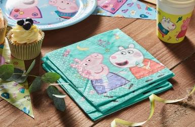 20 Serviettes en papier Peppa Pig™ 33 x 33cm-2