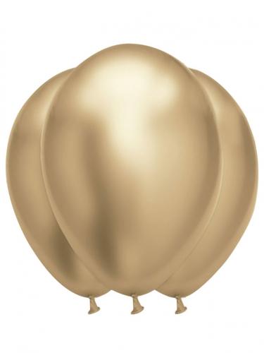 6 Ballons en latex dorés satinés 31 x 39 cm