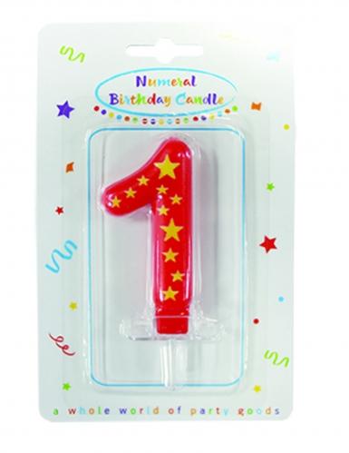 Bougie chiffre étoiles 6,3 x 4 cm-1