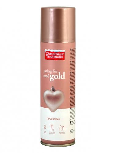 Spray décoration Noël rose gold 150 ml