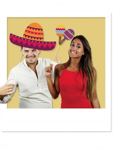Kit photobooth mexicano 8 accessoires-1