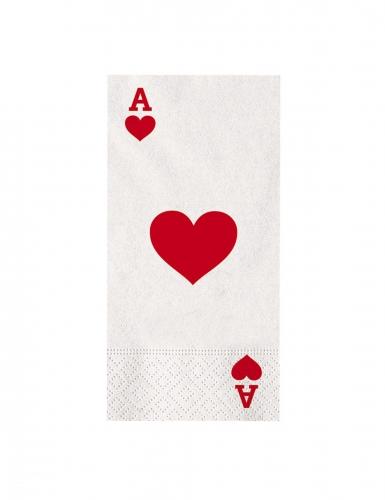 16 Serviettes en papier big poker 40 x 33 cm