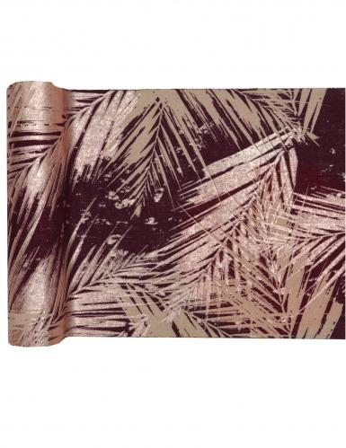 Chemin de table en coton végétal métal rose gold 3 m