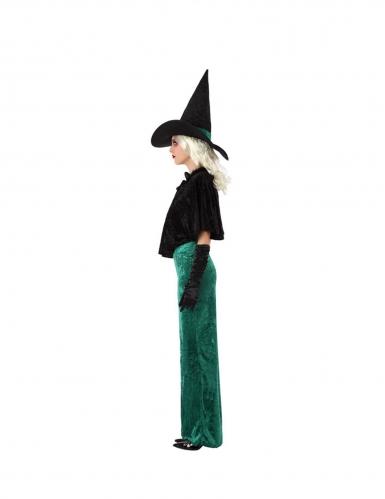 Déguisement sorcière de l'ouest verte femme-1