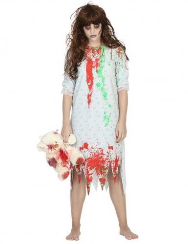 Déguisement zombie chemise de nuit femme