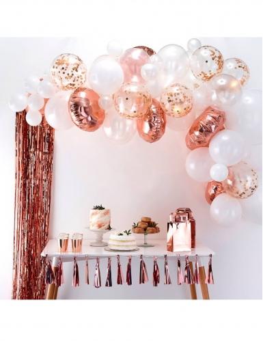 Kit arche de 70 ballons en latex roses gold-1