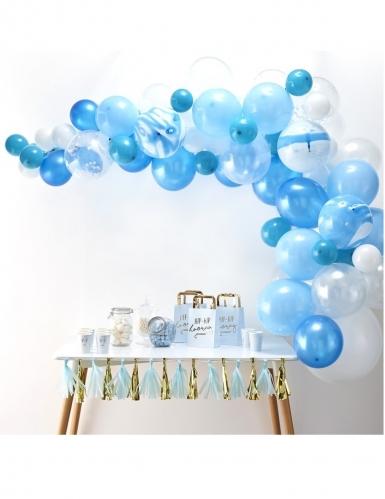 Kit arche de 70 ballons en latex bleus-1