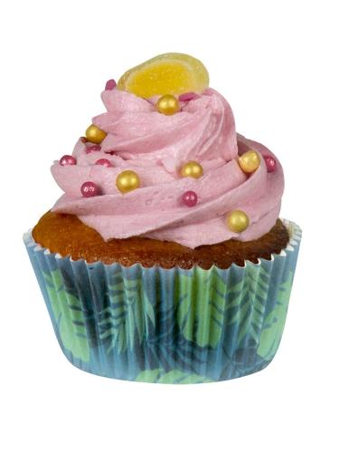 50 Moule à cupcakes Flamant Tropic en papier 6,5 cm-1