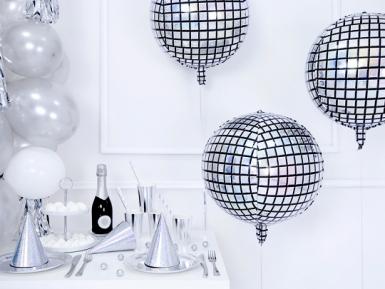 Ballon aluminium boule de disco 40 cm-1