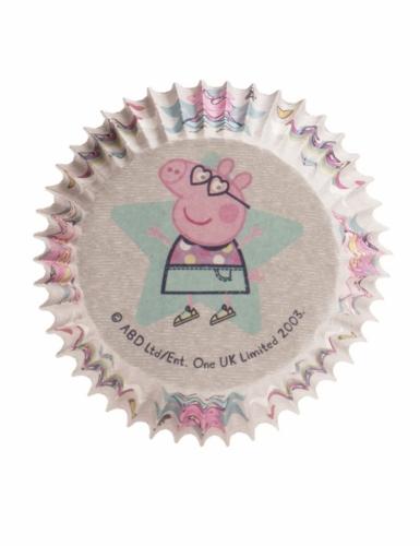 25 Moules à cupcakes en papier Peppa Pig™ 5 x 3 cm-1