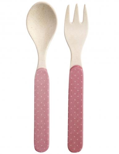 Coffret vaisselle en bambou princesse 5 pièces-3