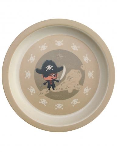 Coffret vaisselle en bambou pirate 5 pièces-1