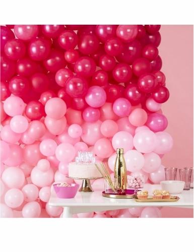 Fond décoratif 210 ballons en latex ombrés roses 200 x 200 cm-1
