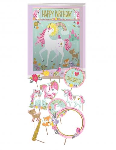 12 Accessoires photobooth et décoration murale jolie licorne magique