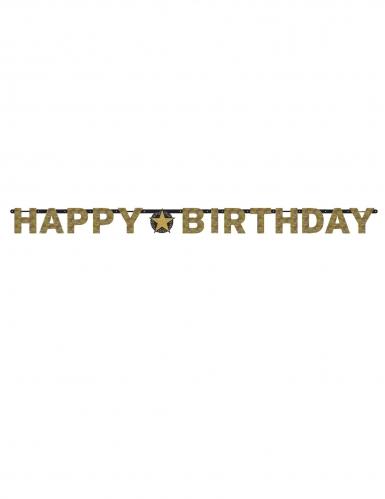 Guirlande lettres Happy Birthday célébration étincelante 2,13 m-1