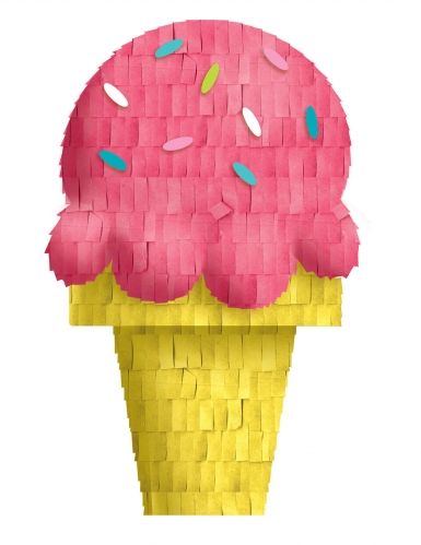Mini décoration en papier forme glace summer party 16 cm