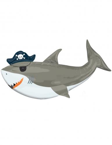 Ballon aluminium requin à l'abordage! 104 x 58 cm