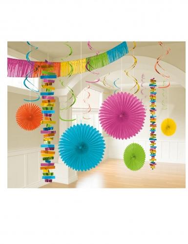 Kit de décoration en papier 18 pièces multicolore
