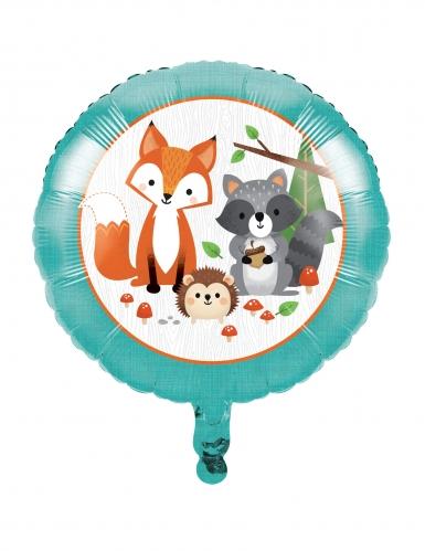 Ballon en aluminium animaux de la forêt 45 cm
