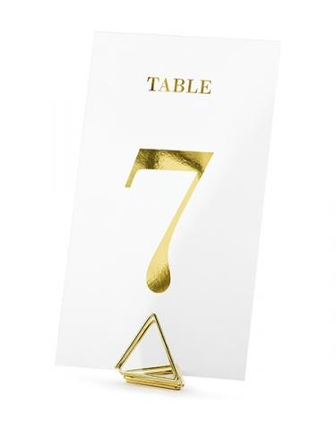 20 Marque tables transparents chiffres dorés 7 x 12 cm-1