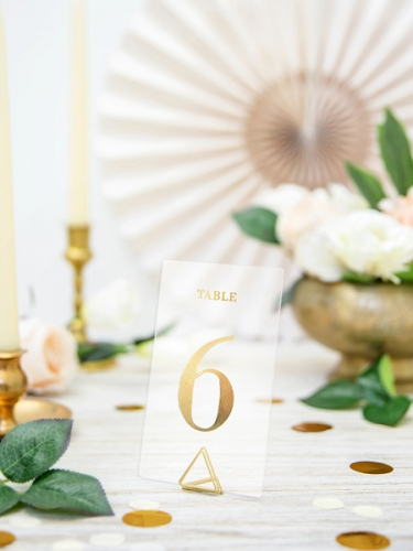20 Marque tables transparents chiffres dorés 7 x 12 cm-3