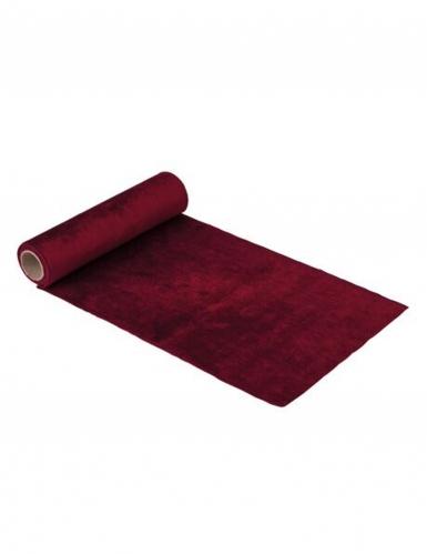 Chemin de table en velours rouge luxe 30 cm x 2,5 m