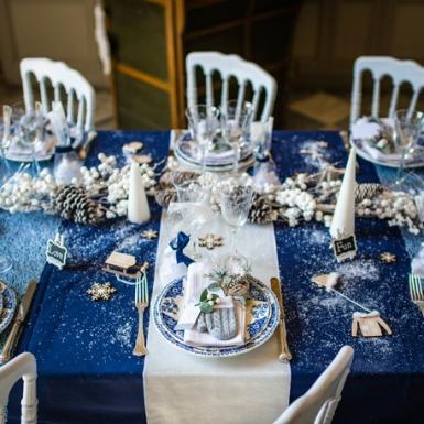 Chemin de table en velours blanc luxe 30 cm x 2,5 m-2